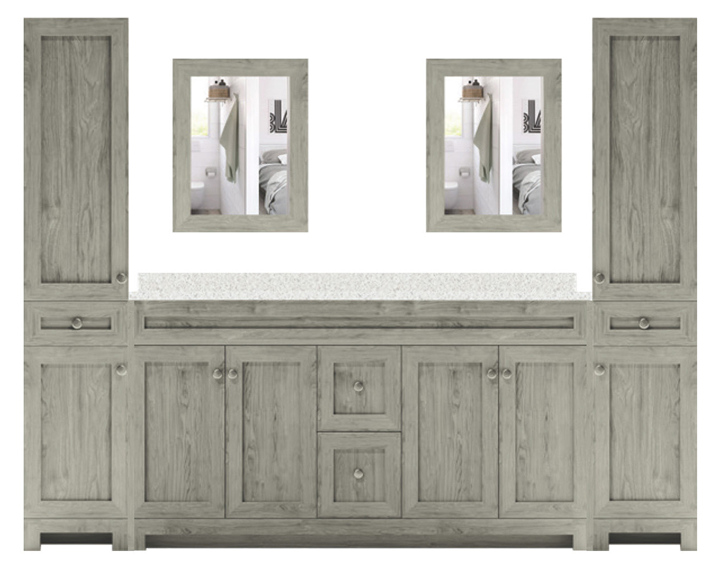 91 Inch Jasper Shaker With Double Sink Cabinetsmith Website